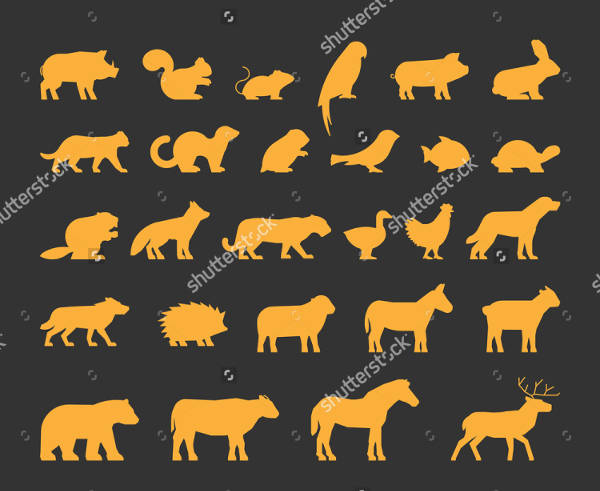 Collection of Animal Silhouette