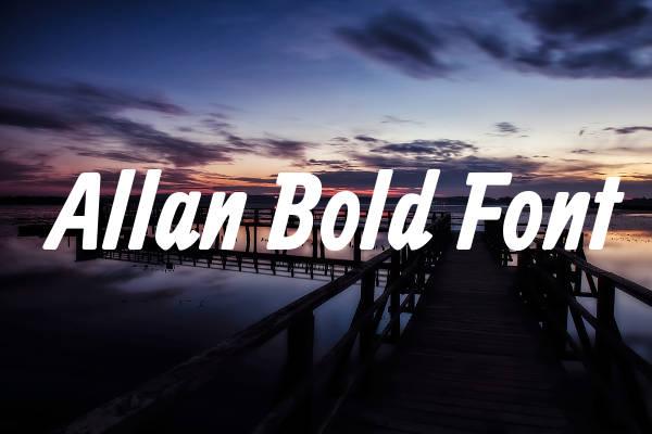Allan Bold Font