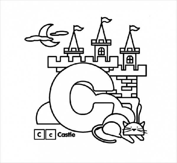 Alphabet Coloring Page For Kids