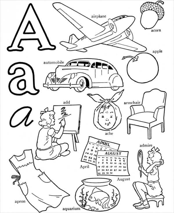 alphabet coloring pages download - photo#14