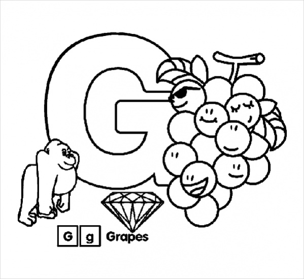 Alphabet Letter Coloring Page