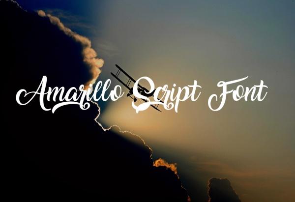 Amarillo Calligraphy Script Fonts