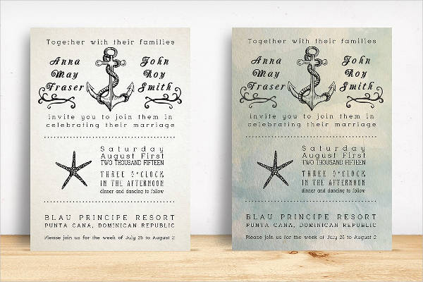 Amazing Beach Wedding Invitation