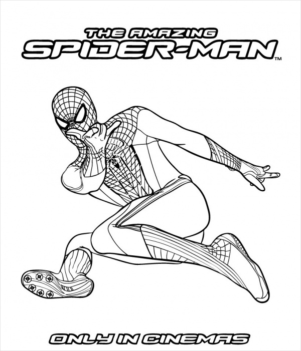 amazing spider man coloring page