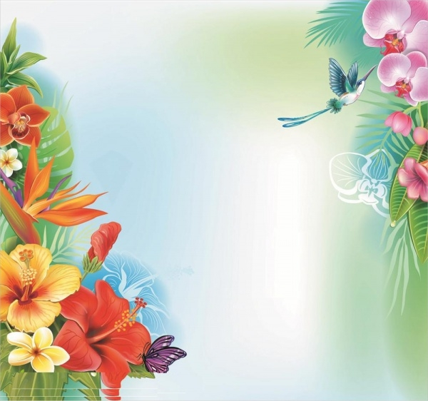 Amazing Tropical Flower Background