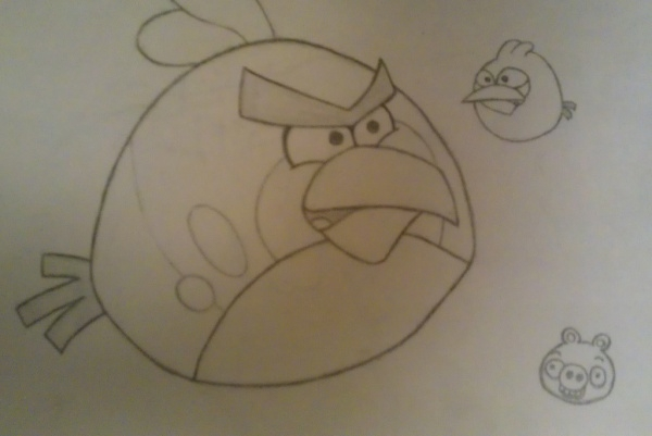Angry Bird Drawing