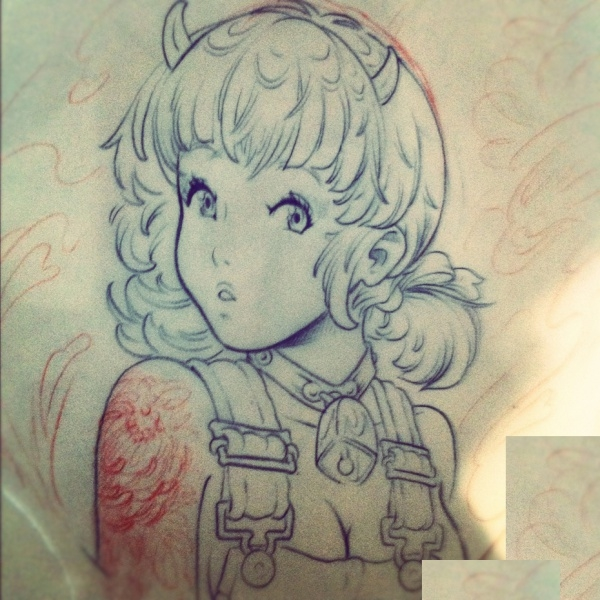 Anime Tattoo Drawing