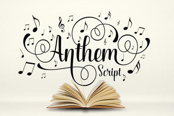 Anthem Script Typography