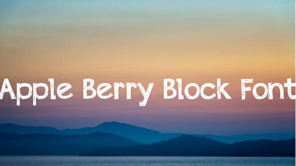 Apple Berry Block Font