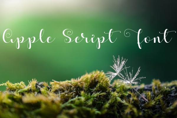 Apple Script Calligraphy Font