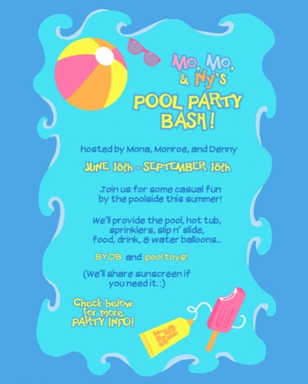 Awesome Pool Party Invitation