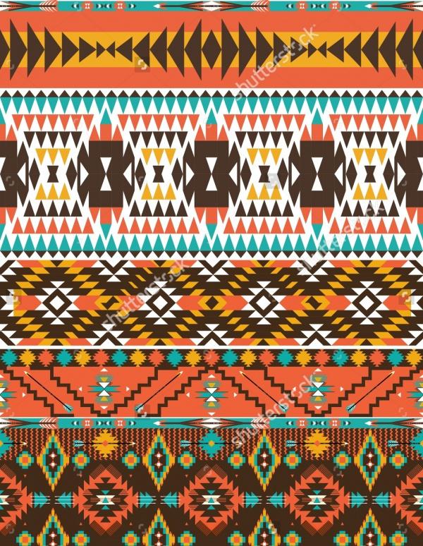 Aztec Colorful Pattern Design