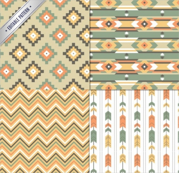 Aztec Free Vector Patterns