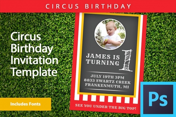 Baby First Birthday Invitation