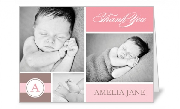 Baby Thank You Card Design