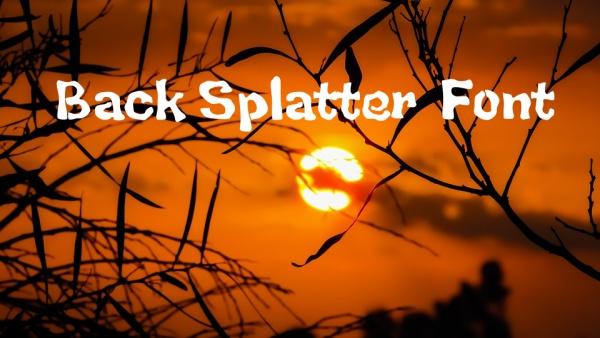 Back Splatter Typography Font