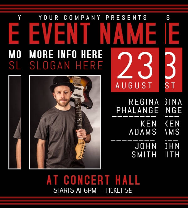 Band Event Flyer Design