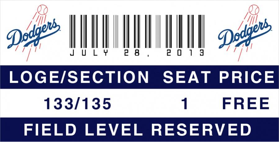 Baseball Invitation Ticket