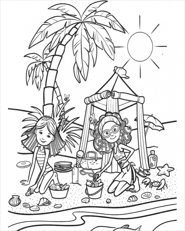 20 coloring pages for girls jpg psd ai illustrator download