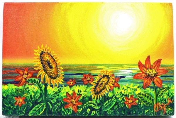 Beautiful Sunflower Painting