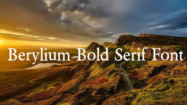 Berylium Bold Serif Font