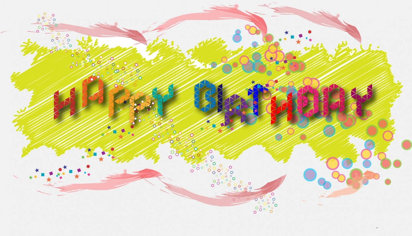 Birthday Greetings graphic Design