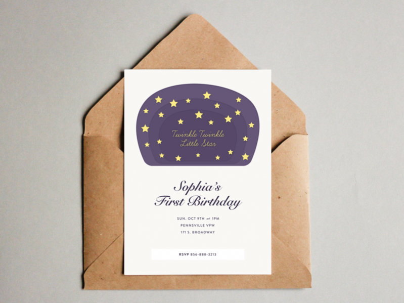 Birthday Invitation Envelope Card