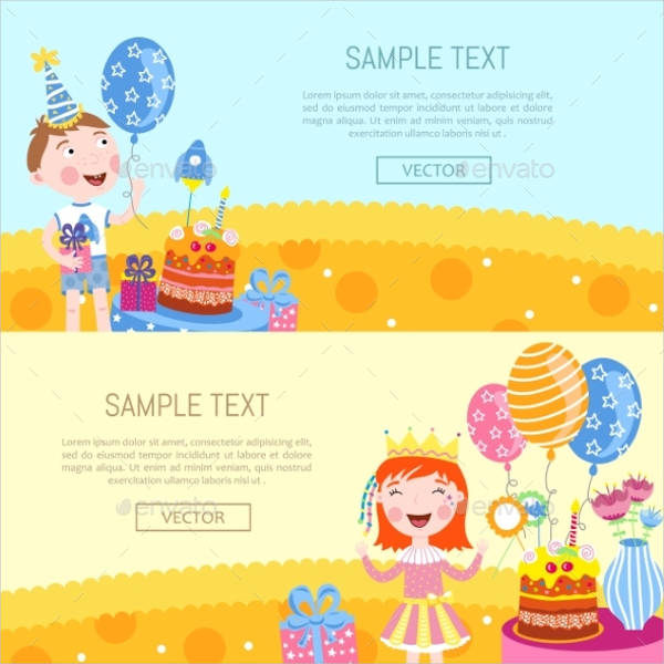 Birthday Vector Banner