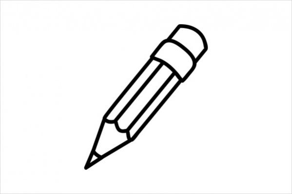 Black And White Pencil Clipart