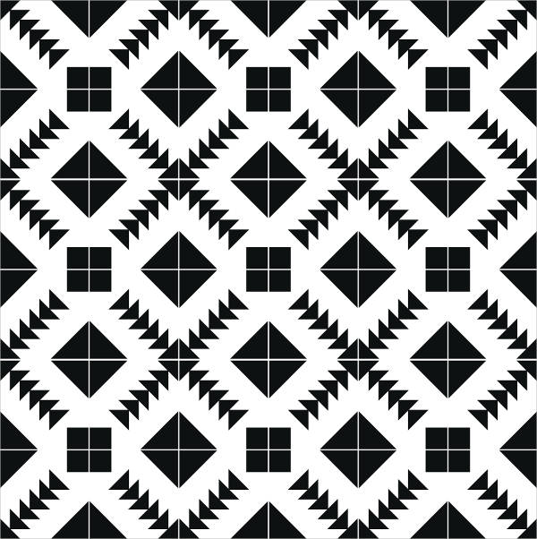 Black And White Tile Pattern