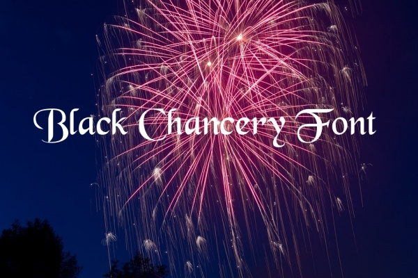 Black Chancery Calligraphy Font