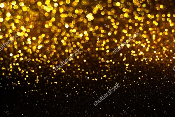 Black and Gold Bokeh Texture