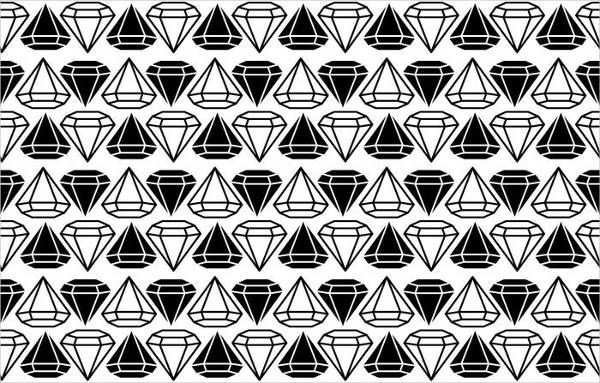 Black and White Diamonds Pattern