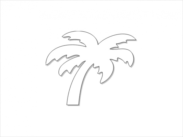 black and white palm tree clip art