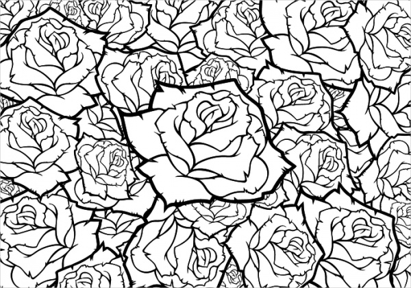 Black and White Rose Flower Backgrounds