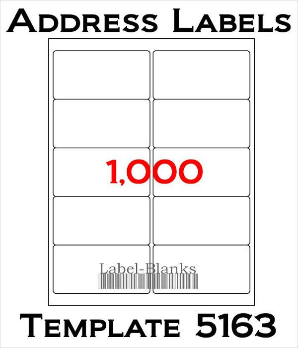 Blank Address Label