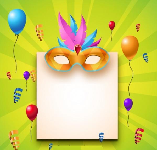 Blank Paper Carnival Invitation