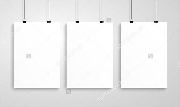 Blank Poster Mockup