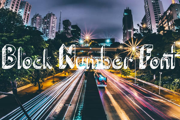 Block Number Font