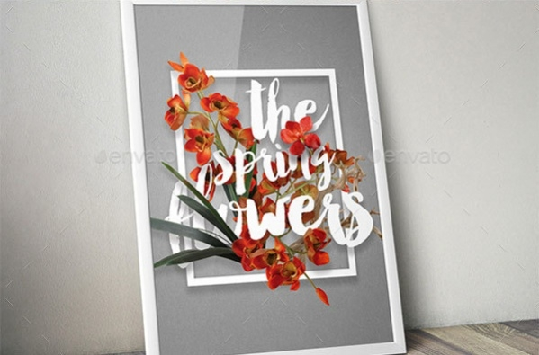 Blossom Flowers Typography