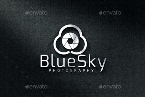 Blue Sky Photography Name Logo