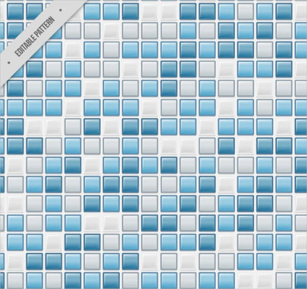 Blue squares tiles pattern