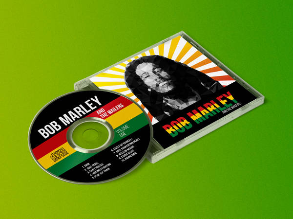 Bob Marley CD Cover and Label