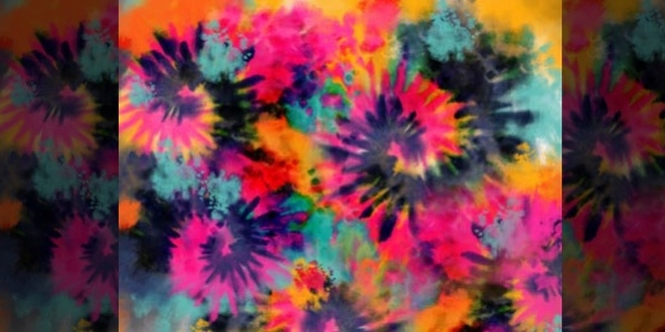 Boho Trippin Tie Dye pattern