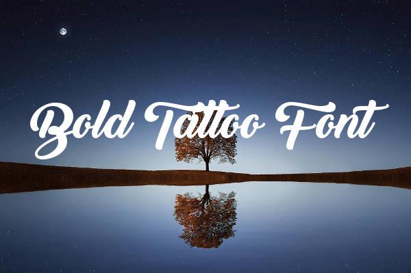 Bold Tattoo Font