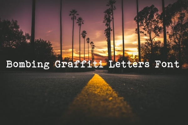 Bombing Graffiti Letters Font