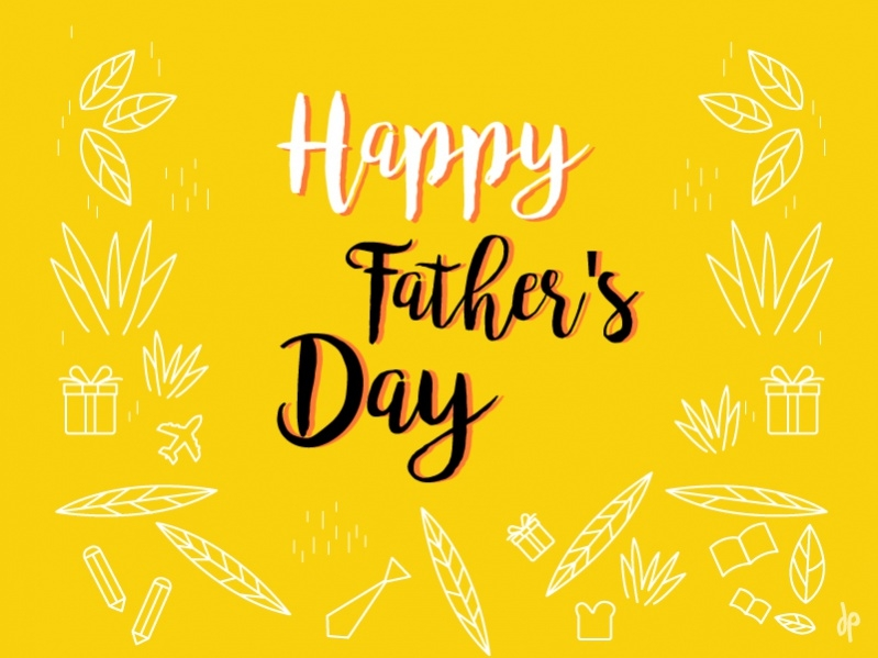 Branding Characer Happy fathers day Image