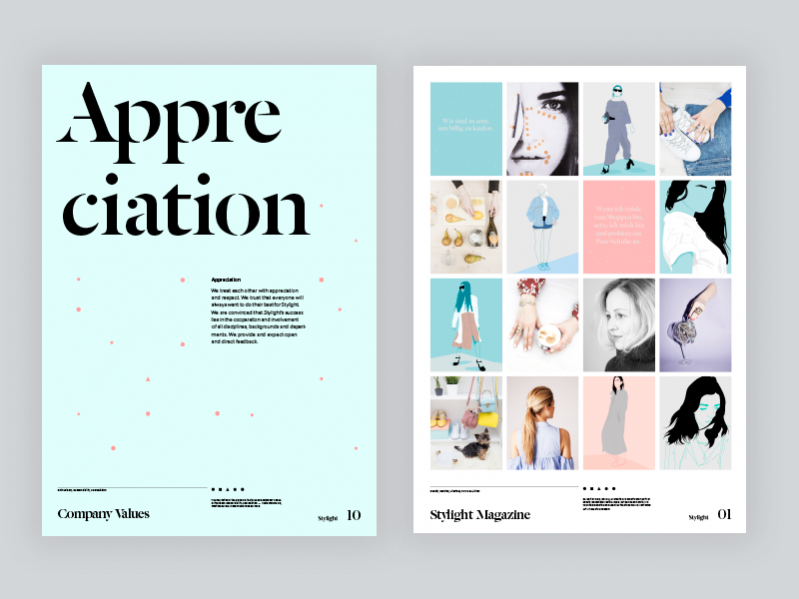 Branding Fashion LayoutPosters