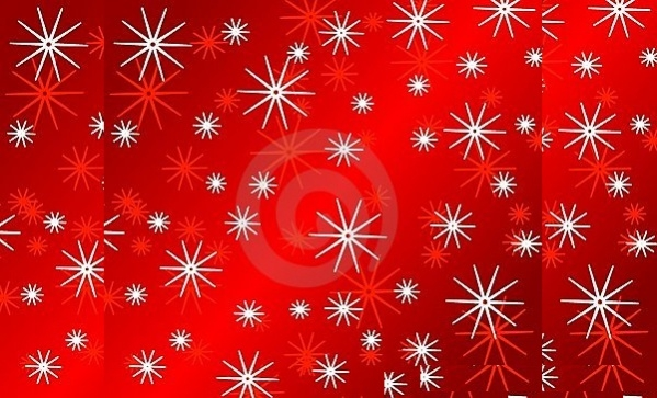 Bright Red Snowflake Pattern