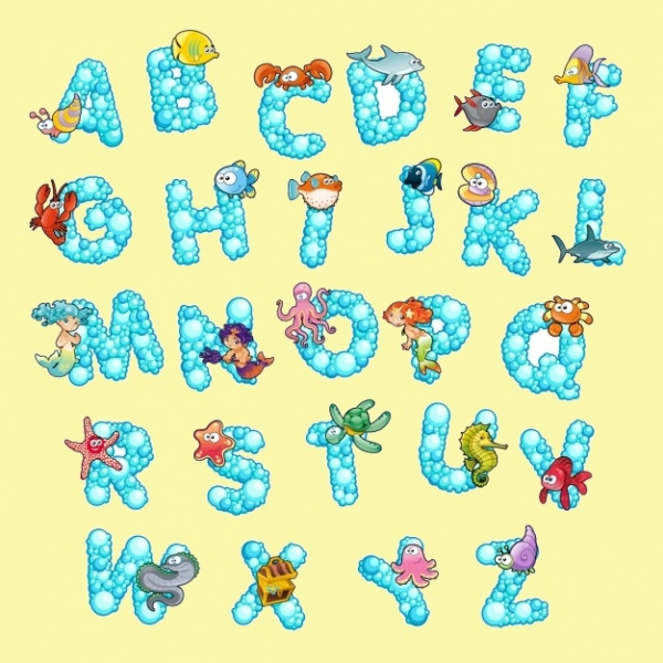Bubble Alphabet Letters for Kids